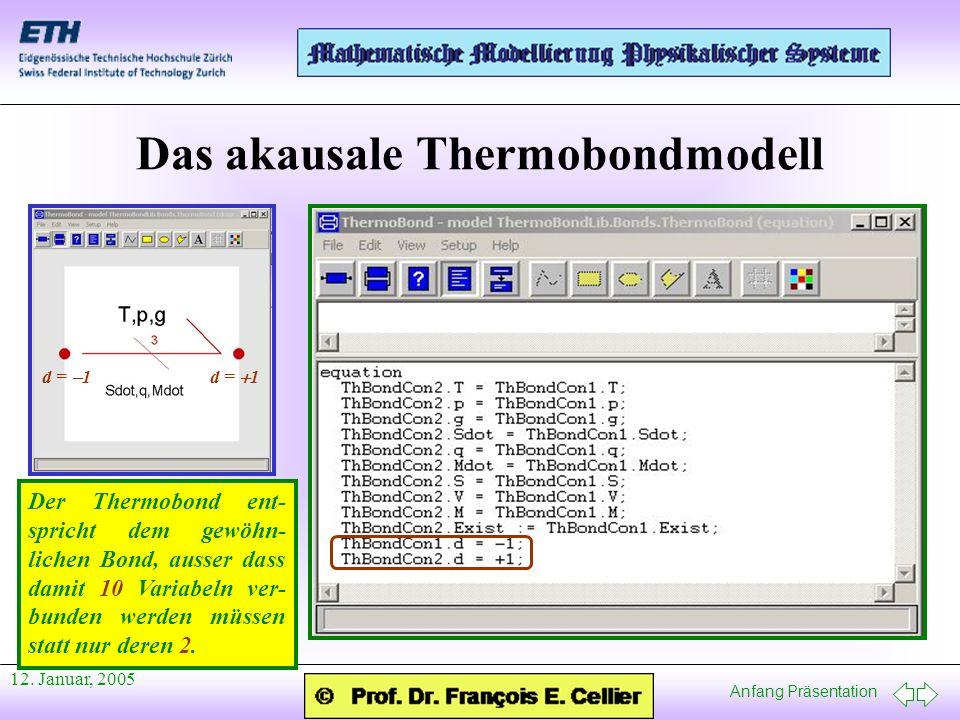Das akausale Thermobondmodell