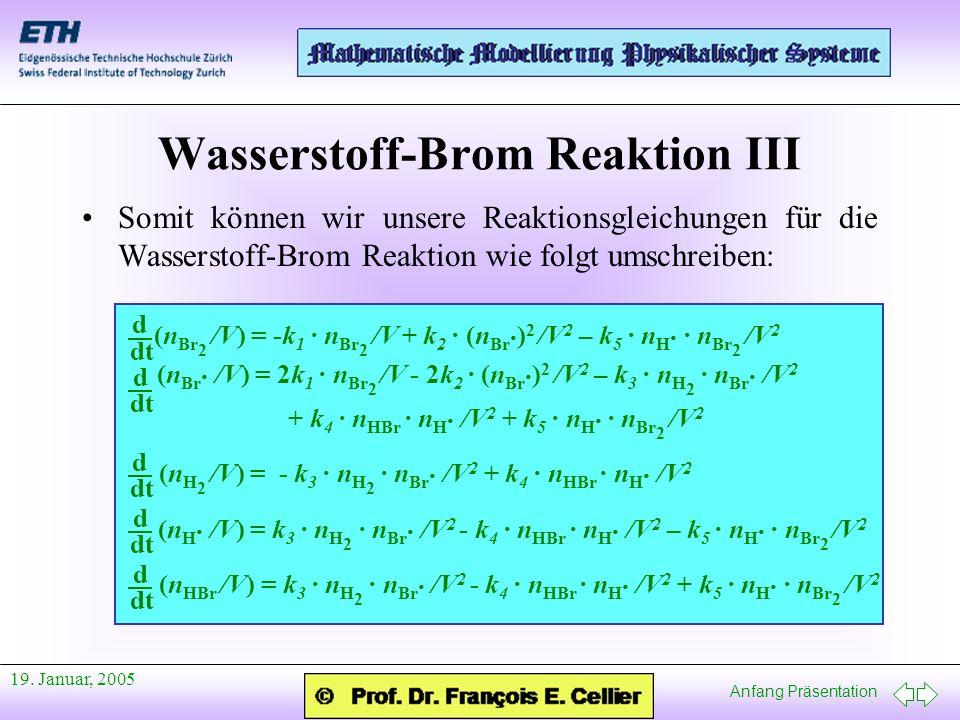 Wasserstoff-Brom Reaktion III