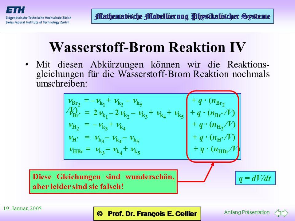 Wasserstoff-Brom Reaktion IV