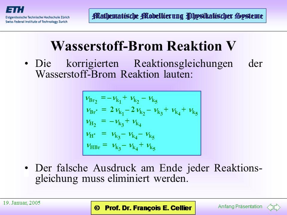 Wasserstoff-Brom Reaktion V