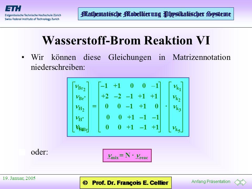 Wasserstoff-Brom Reaktion VI