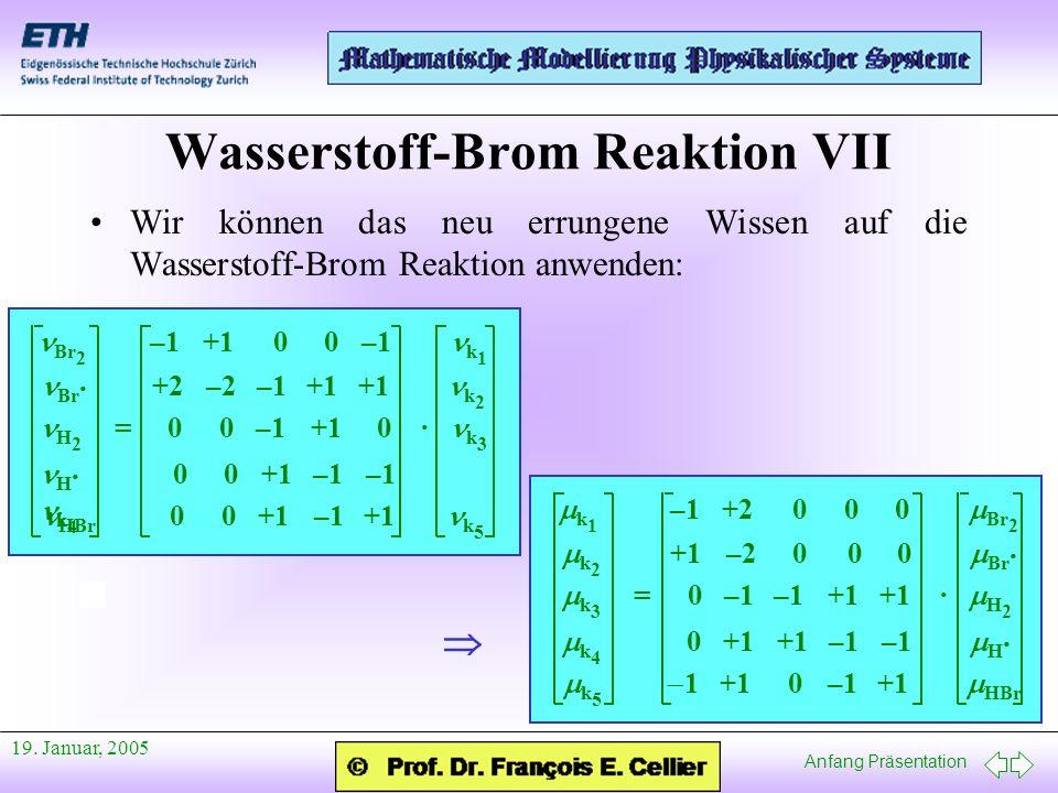 Wasserstoff-Brom Reaktion VII