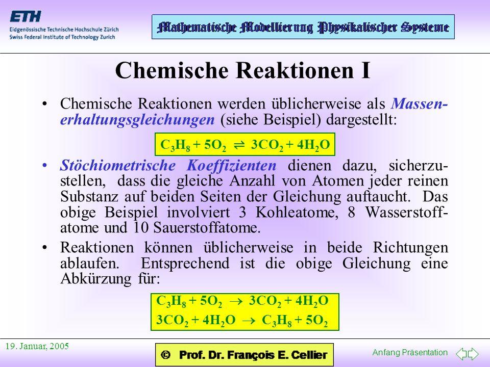 Chemische Reaktionen I