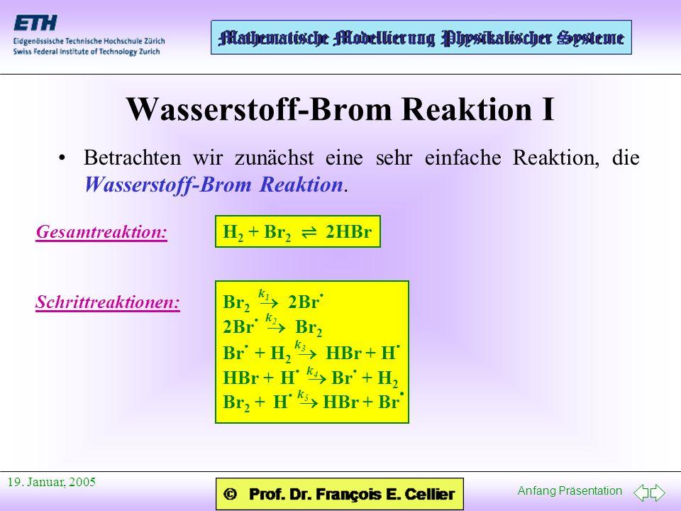 Wasserstoff-Brom Reaktion I