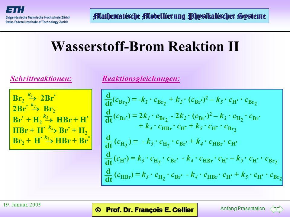 Wasserstoff-Brom Reaktion II