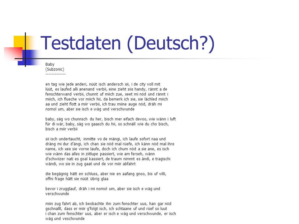 Testdaten (Deutsch ) Baby (Subzonic) -------------