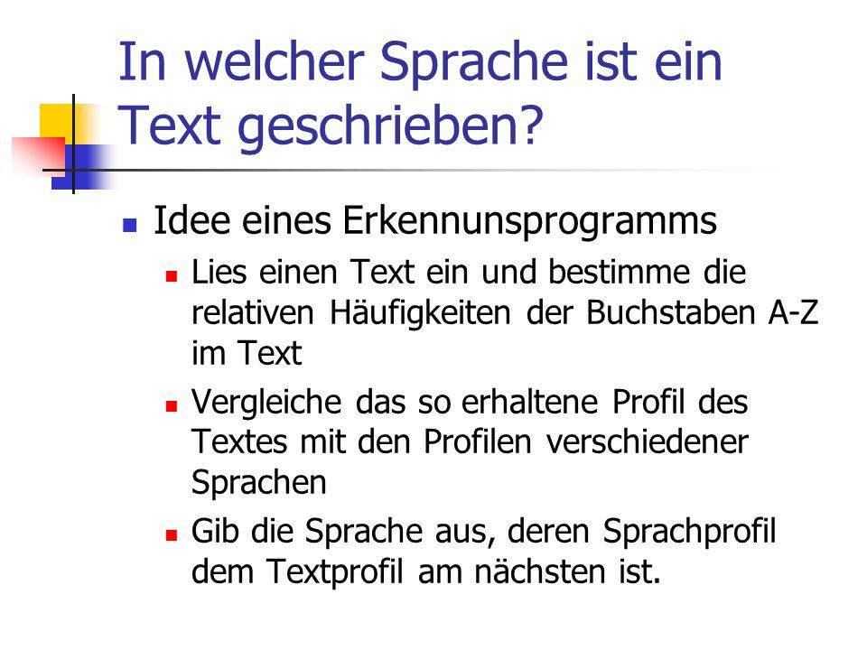 In welcher Sprache ist ein Text geschrieben