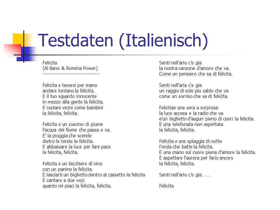 Testdaten (Italienisch)