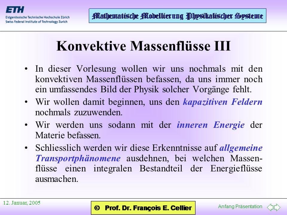 Konvektive Massenflüsse III