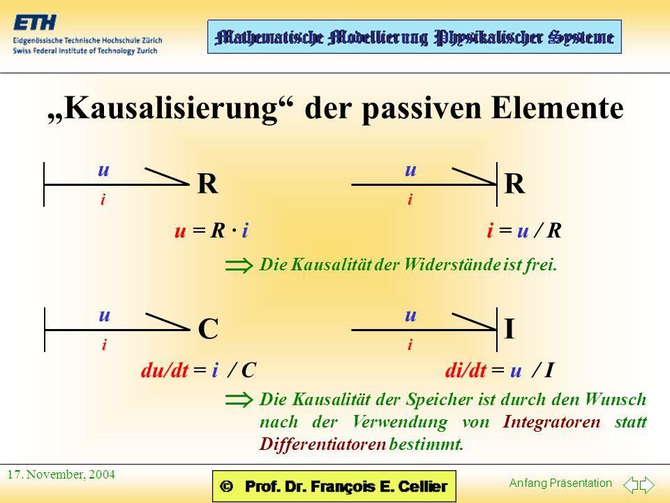 """""""Kausalisierung der passiven Elemente"""