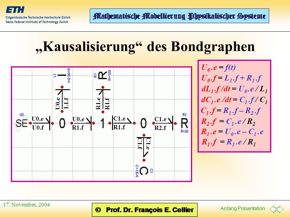 """""""Kausalisierung des Bondgraphen"""