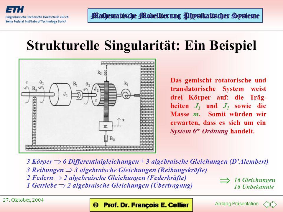 Strukturelle Singularität: Ein Beispiel