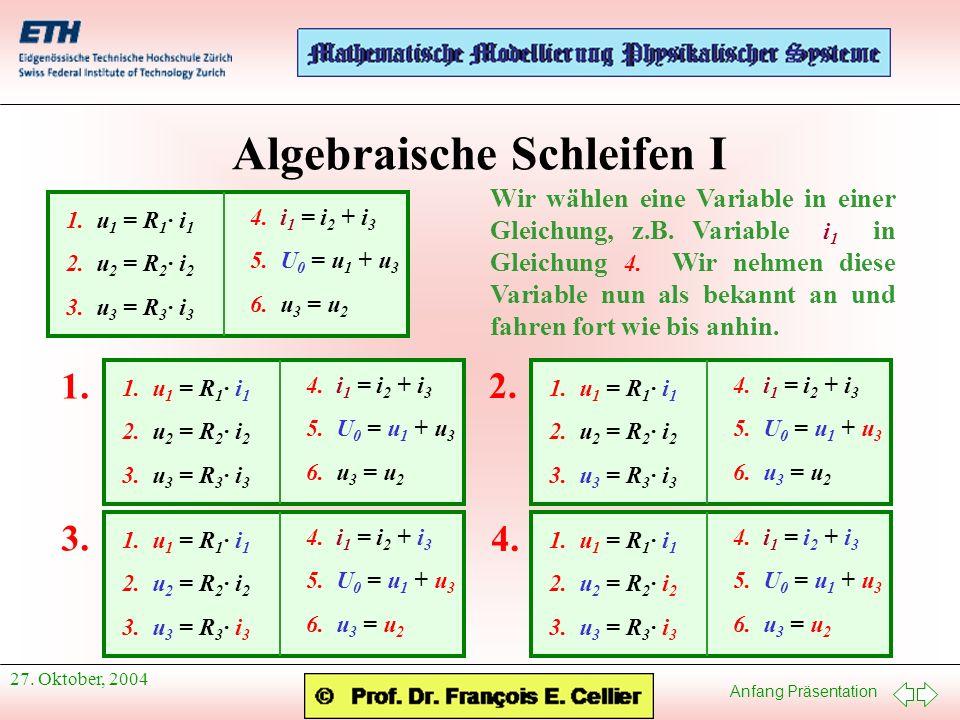 Algebraische Schleifen I