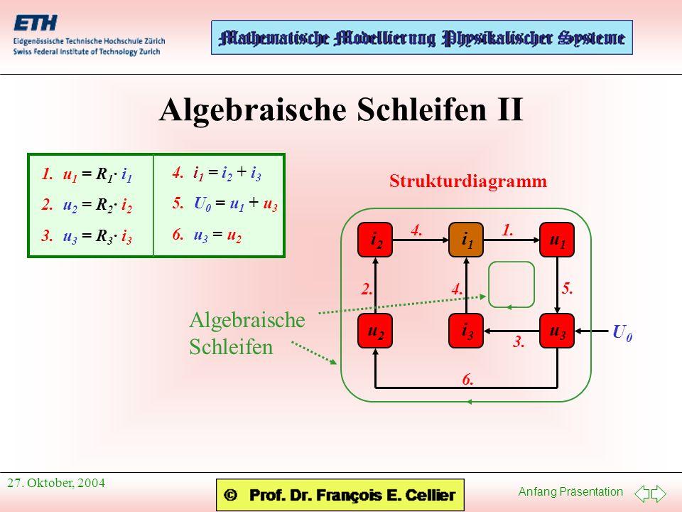 Algebraische Schleifen II