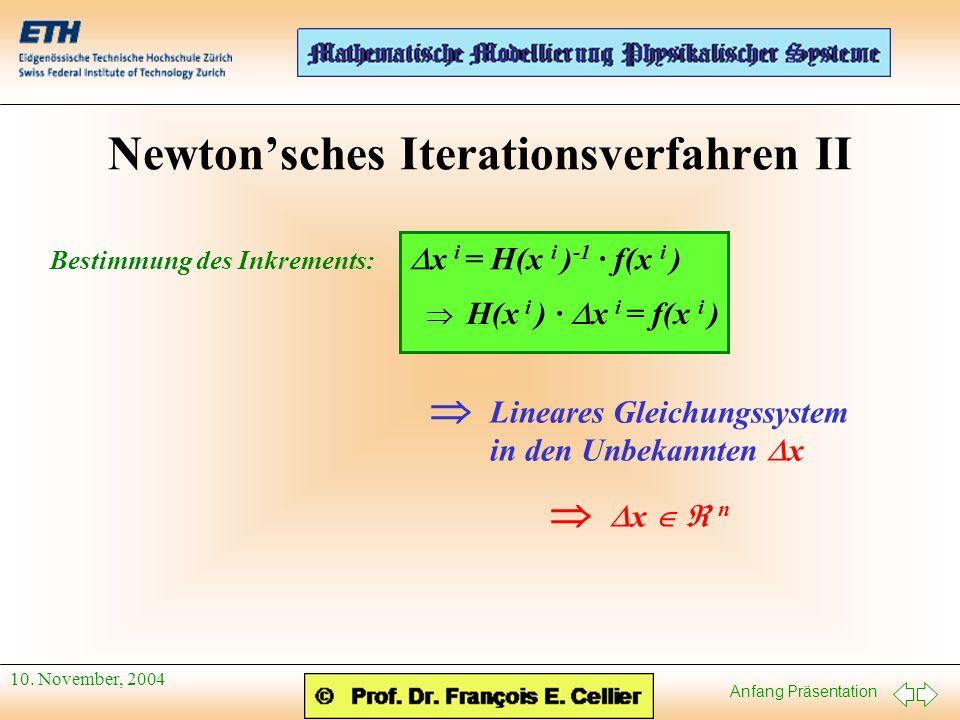 Newton'sches Iterationsverfahren II