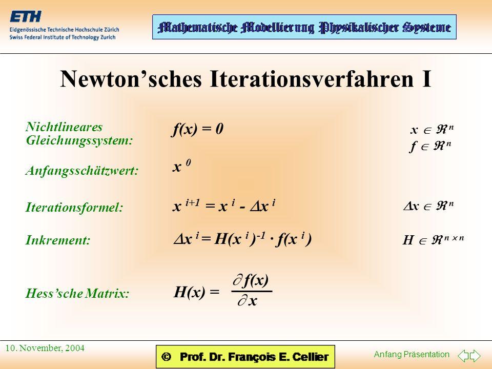 Newton'sches Iterationsverfahren I