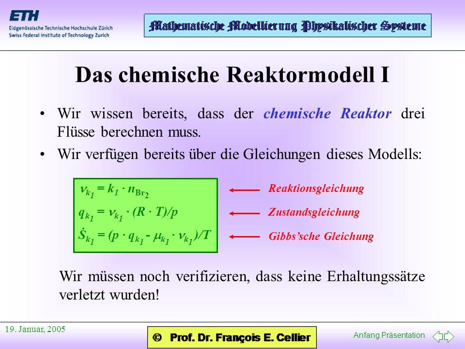 Das chemische Reaktormodell I