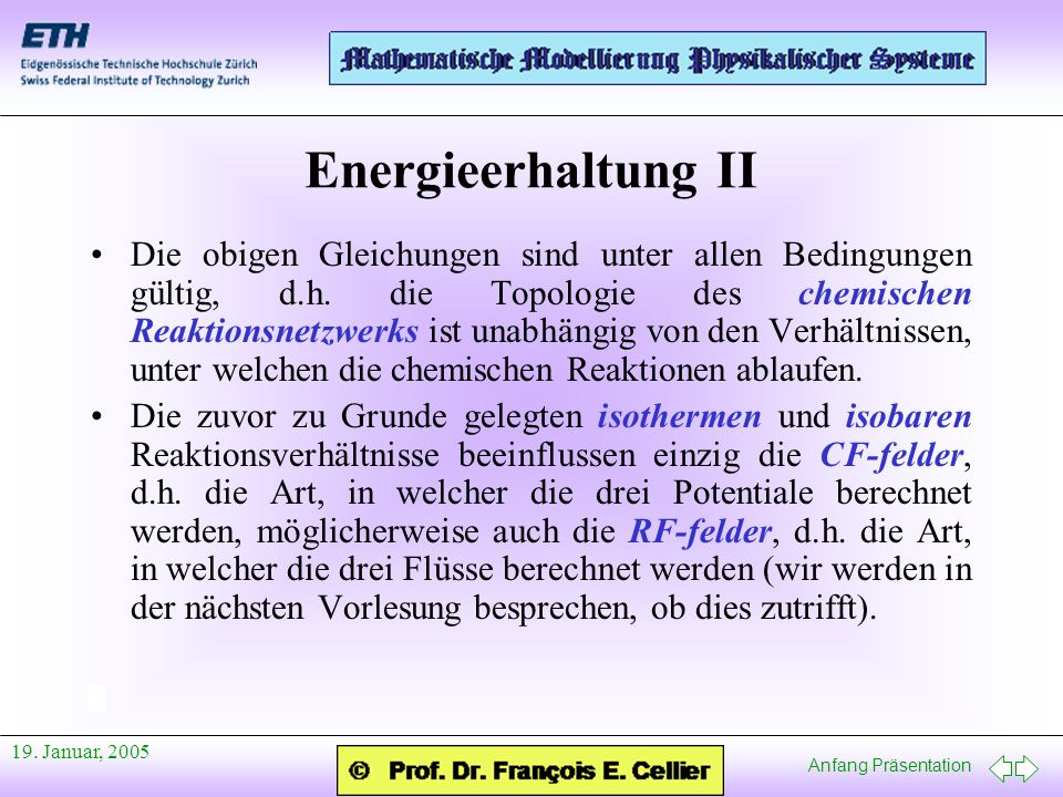 Energieerhaltung II