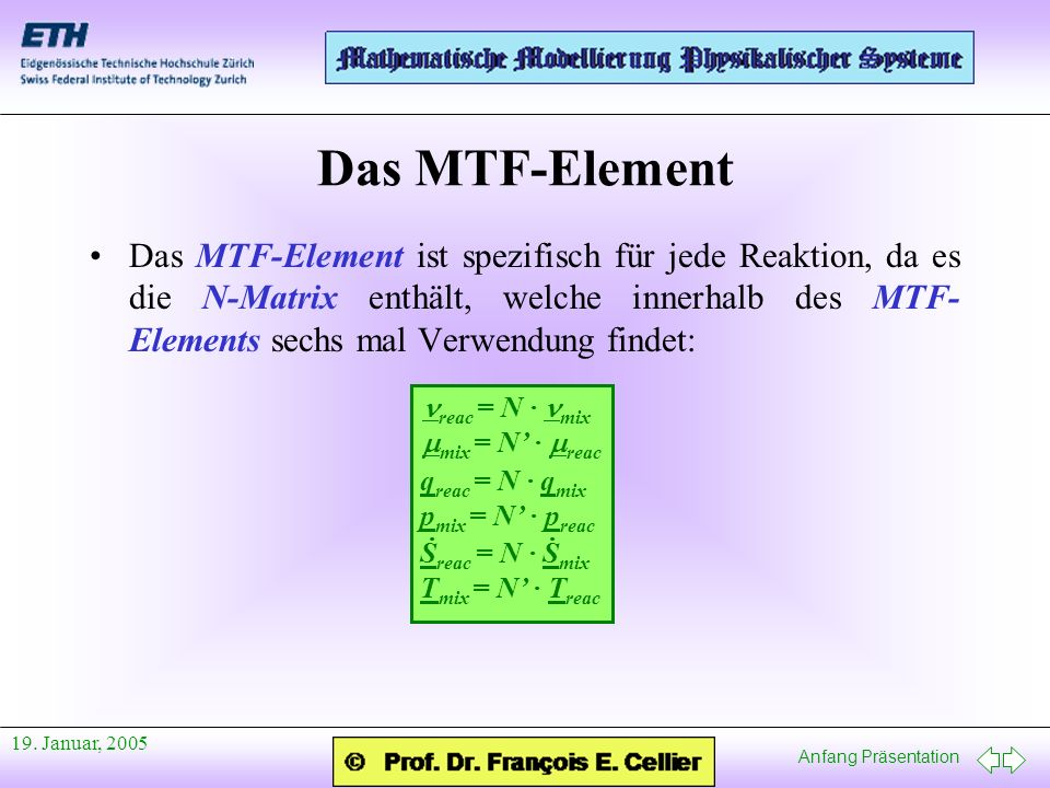 Das MTF-Element