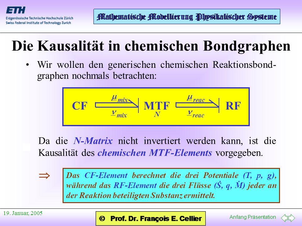 Die Kausalität in chemischen Bondgraphen