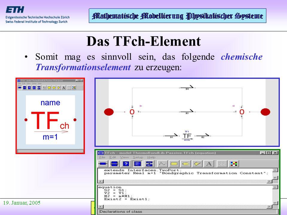 Das TFch-Element Somit mag es sinnvoll sein, das folgende chemische Transformationselement zu erzeugen: