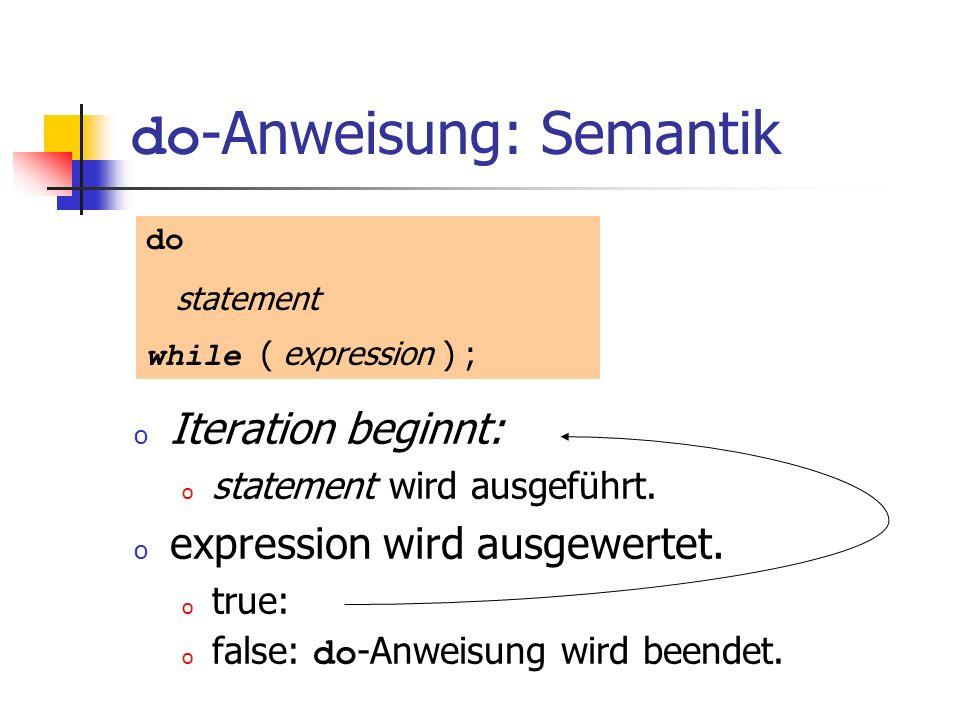 do-Anweisung: Semantik