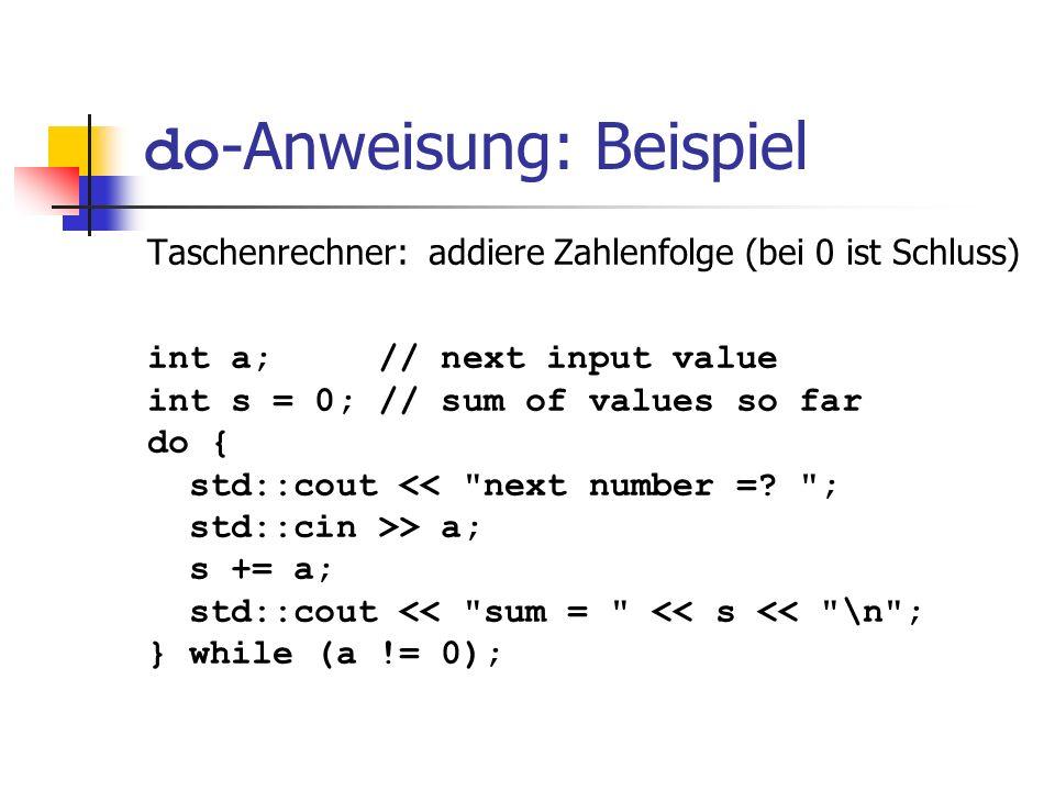 do-Anweisung: Beispiel