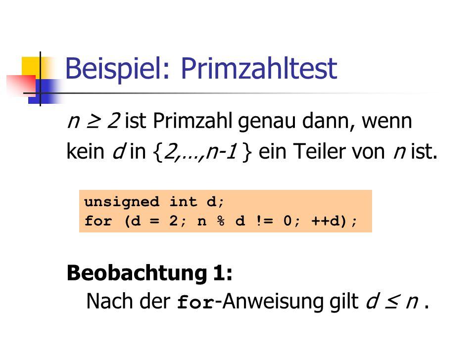 Beispiel: Primzahltest