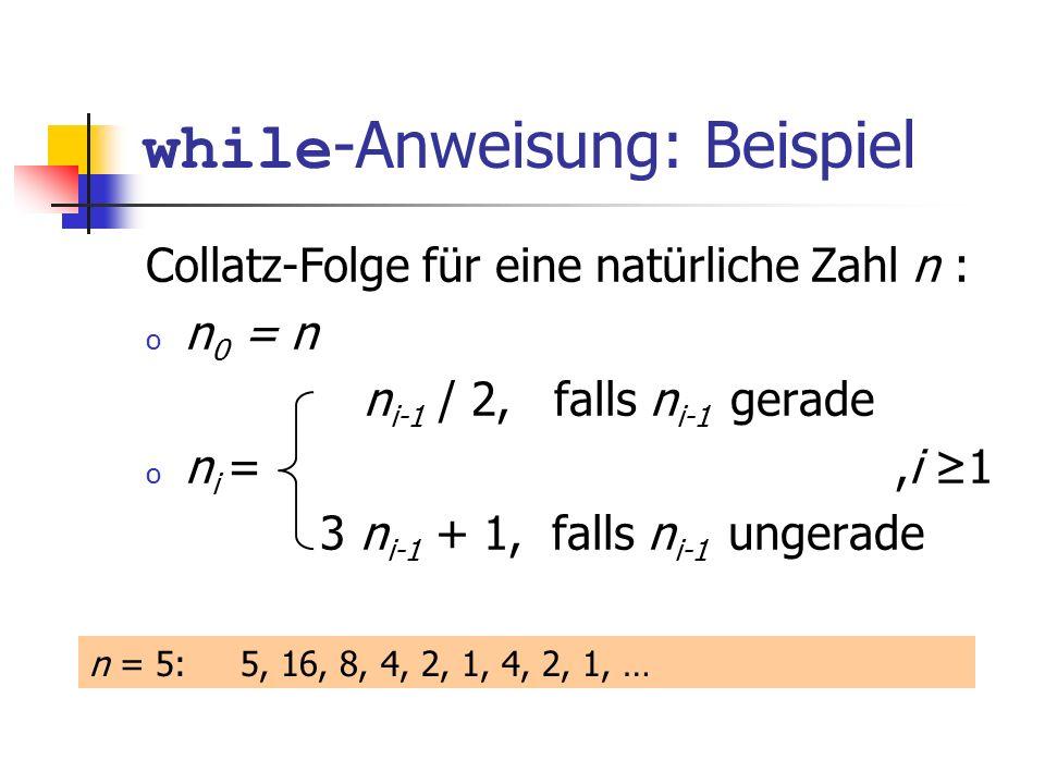 while-Anweisung: Beispiel
