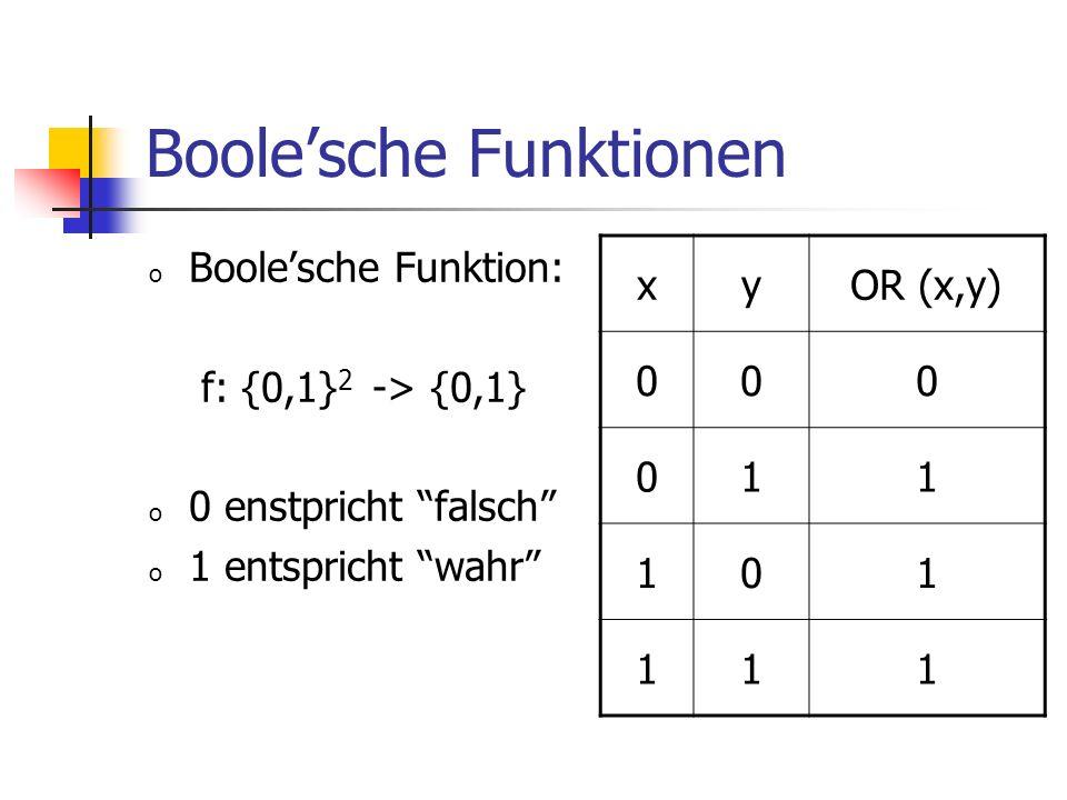 Boole'sche Funktionen