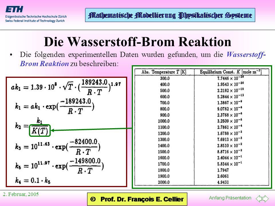 Die Wasserstoff-Brom Reaktion