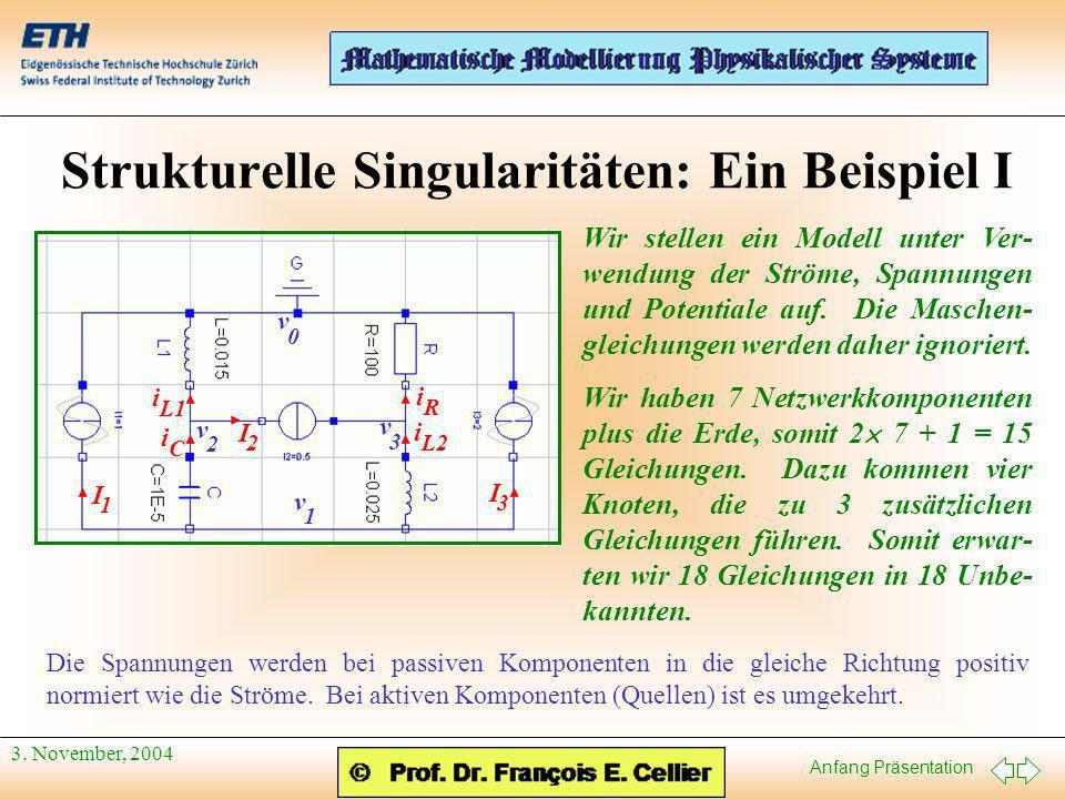 Strukturelle Singularitäten: Ein Beispiel I