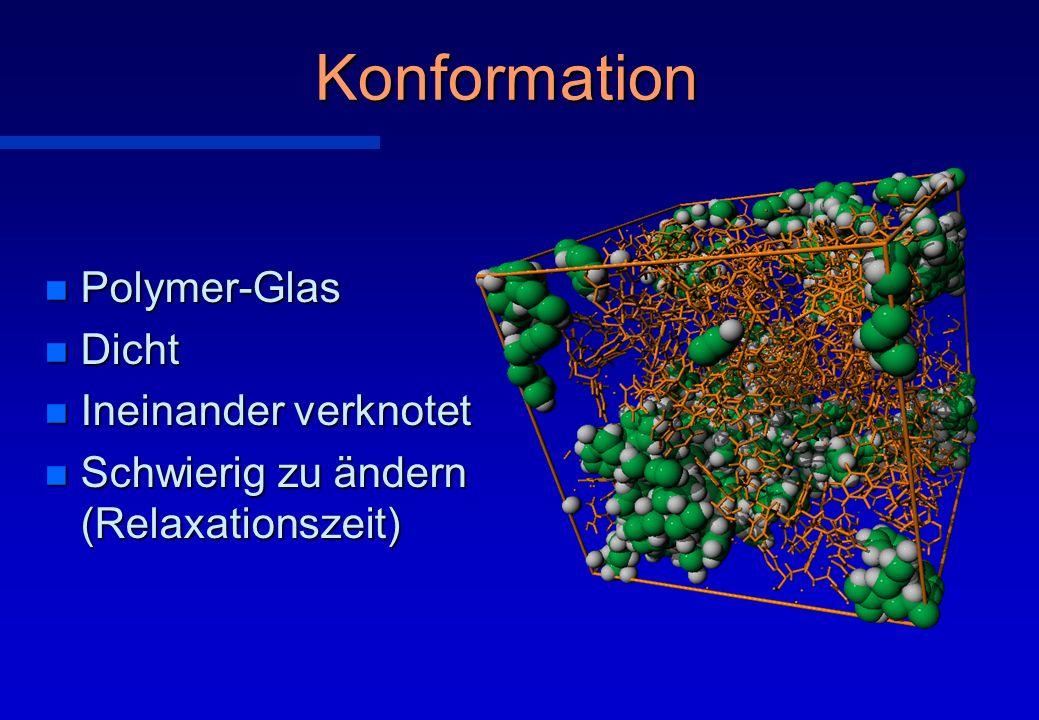 Konformation Polymer-Glas Dicht Ineinander verknotet