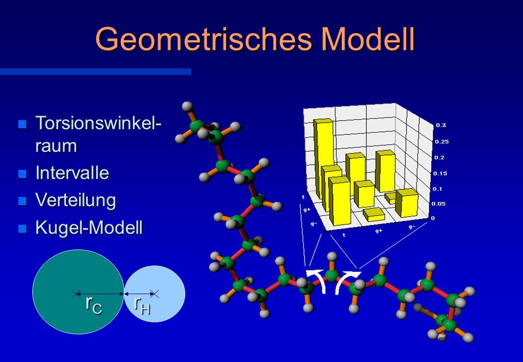 Geometrisches Modell rC rH Torsionswinkel- raum Intervalle Verteilung