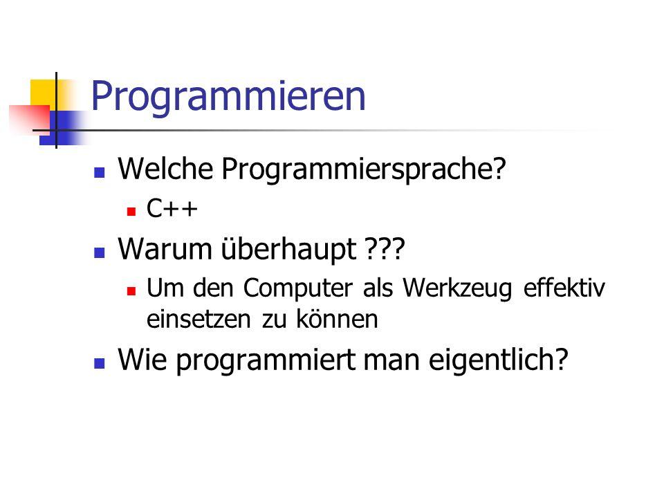 Programmieren Welche Programmiersprache Warum überhaupt