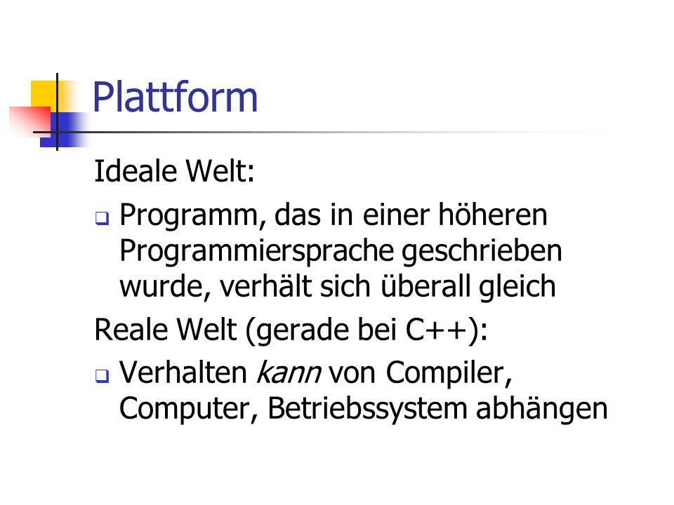 Plattform Ideale Welt:
