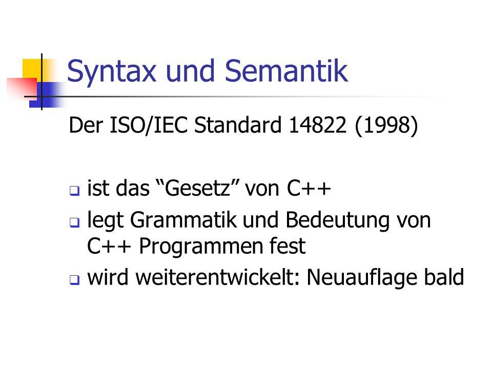 Syntax und Semantik Der ISO/IEC Standard 14822 (1998)