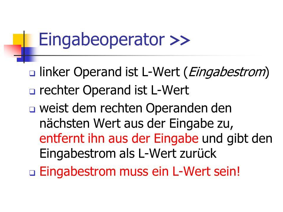 Eingabeoperator >>