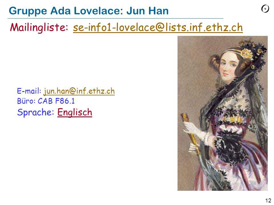Gruppe Ada Lovelace: Jun Han