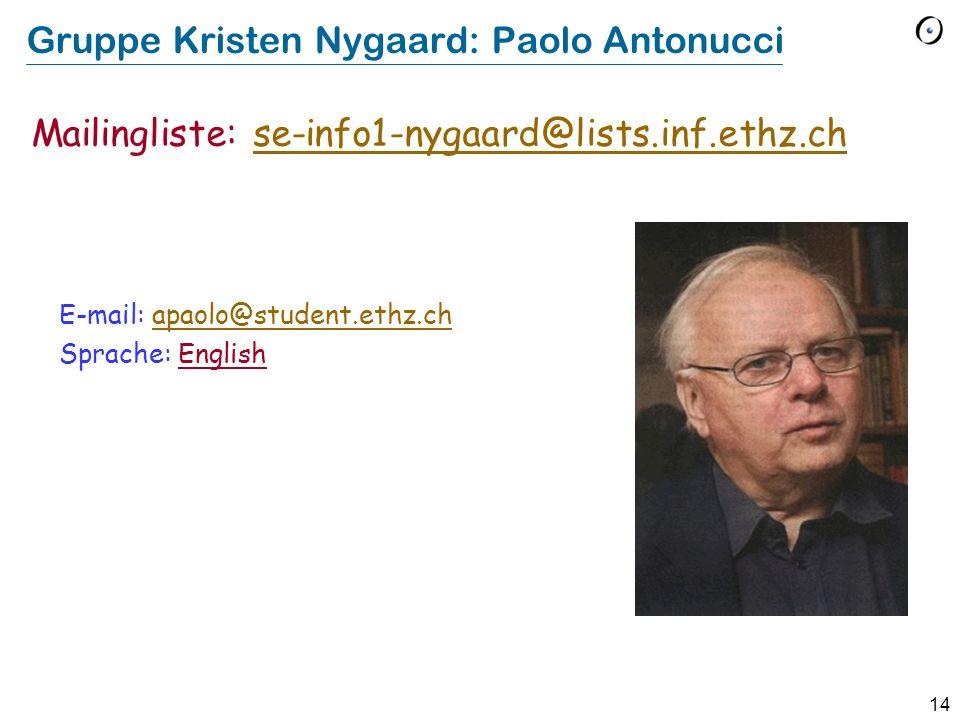 Gruppe Kristen Nygaard: Paolo Antonucci