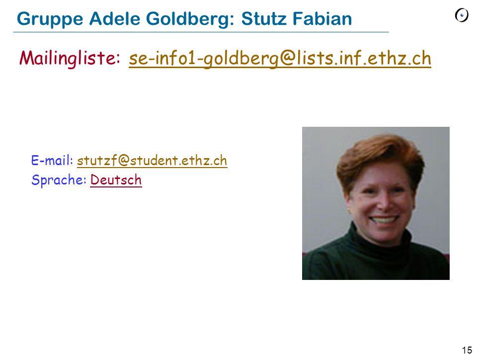 Gruppe Adele Goldberg: Stutz Fabian