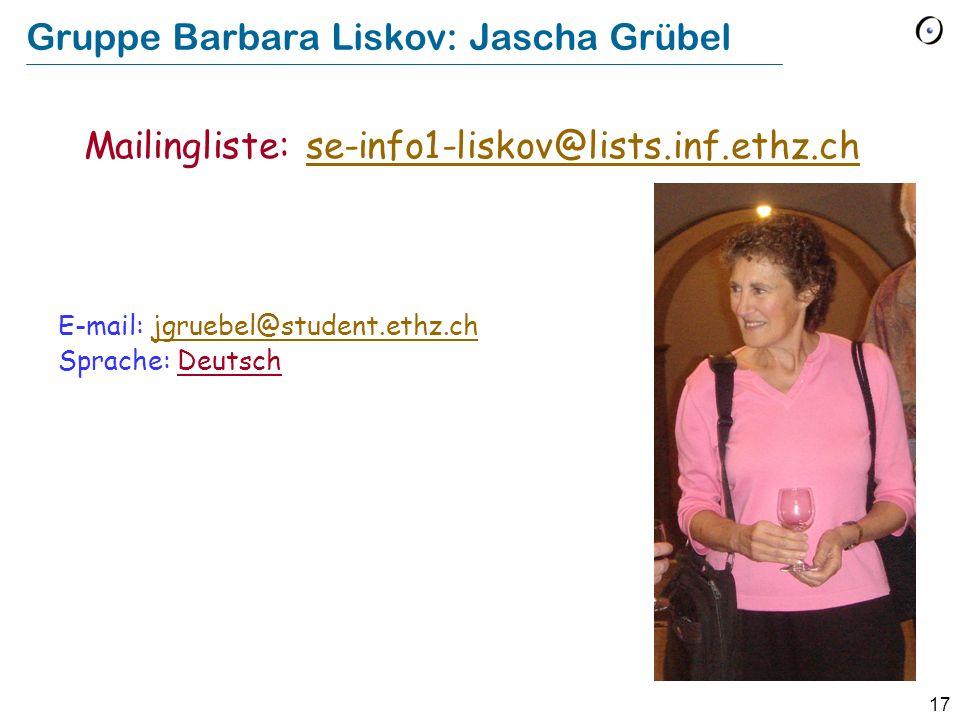 Gruppe Barbara Liskov: Jascha Grübel