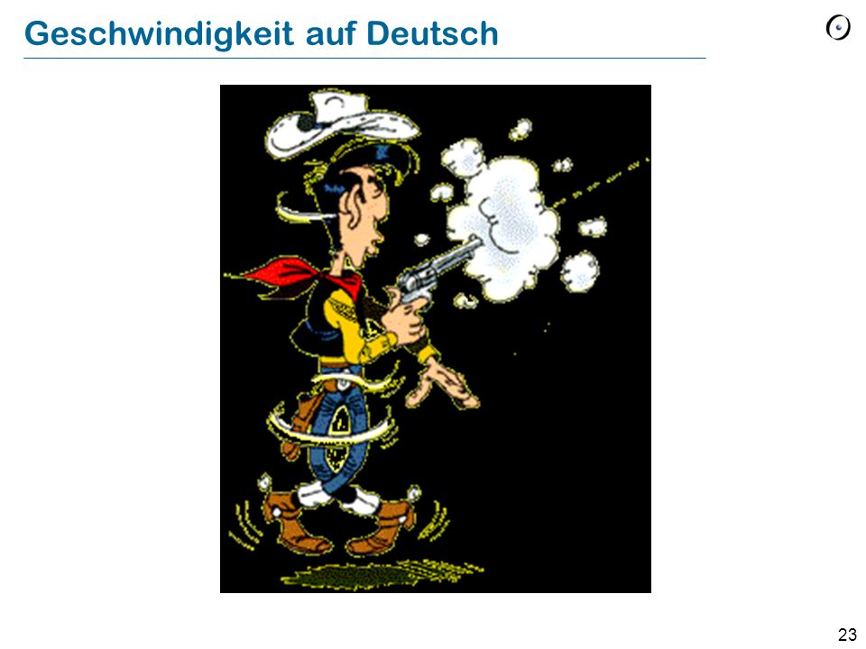 Geschwindigkeit auf Deutsch