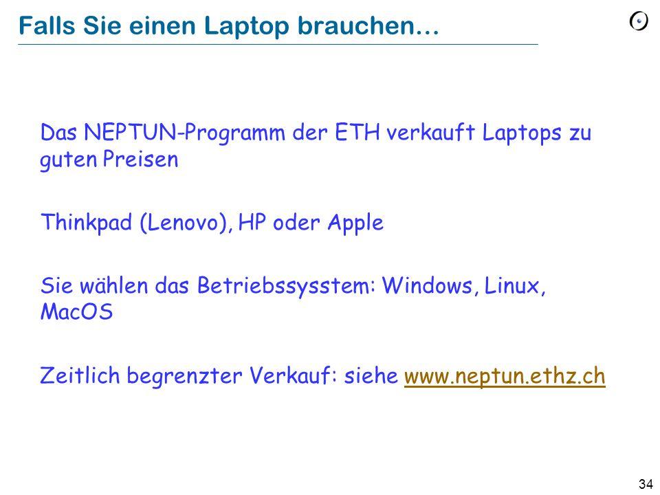 Falls Sie einen Laptop brauchen…
