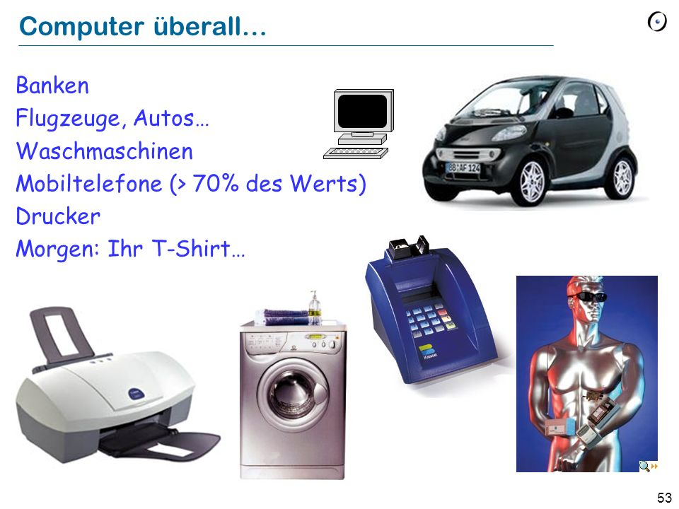 Computer überall… Banken Flugzeuge, Autos… Waschmaschinen