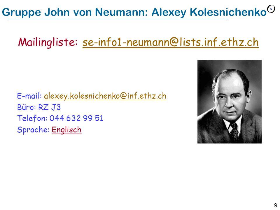 Gruppe John von Neumann: Alexey Kolesnichenko