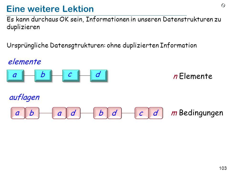 Eine weitere Lektion elemente a b c d n Elemente auflagen a b a d b d