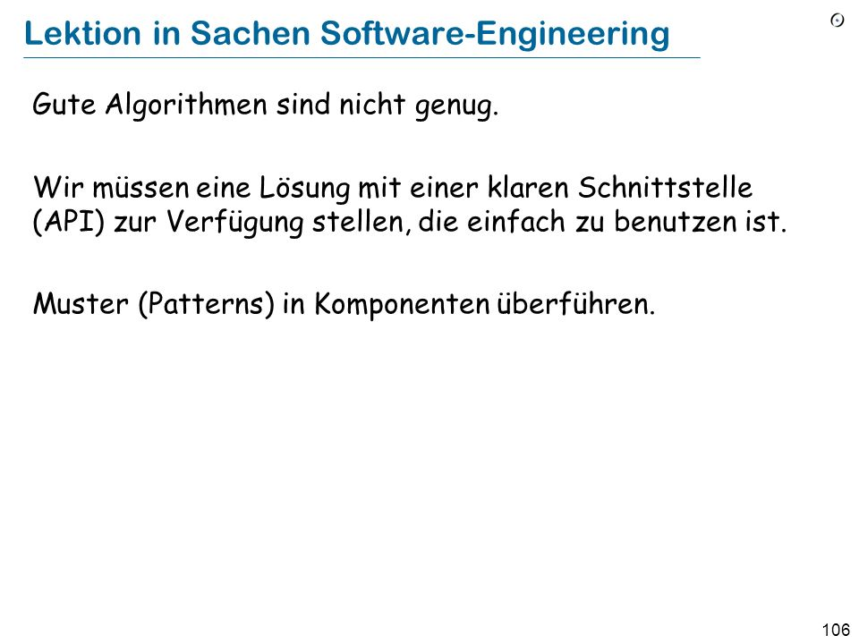Lektion in Sachen Software-Engineering