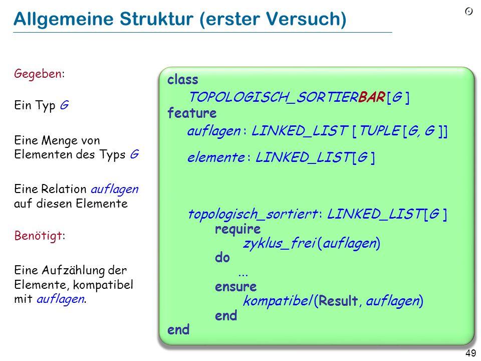 Allgemeine Struktur (erster Versuch)