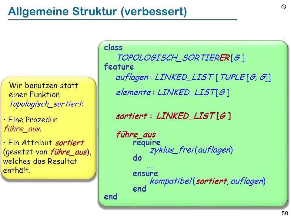Allgemeine Struktur (verbessert)
